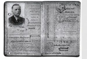 Legitymacja Kolejowa Waclawa Rasinskiego z 1937 roku