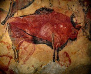 malowidlo naskalne z Altamiry w Hiszpanii