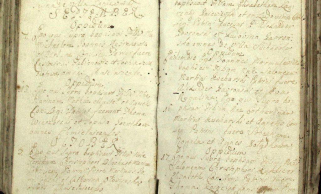 Księga metrykalna parafii Chmielnik z 1739 roku