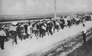 Wybuch II Wojny Swiatowej - uciekinierzy na wschód