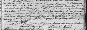 akt zgonu Franciszka Szajcha z 1816 roku