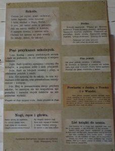 wiersze ze szkolengo elementarza z 1914 roku